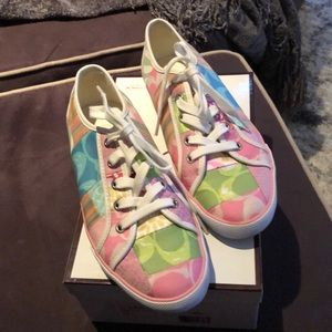 Adorable Coach patchwork sneakers